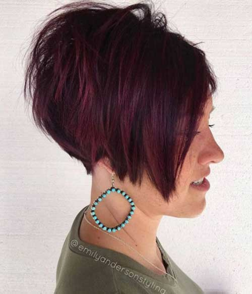 Stacked-Pixie-Bob Charming Stacked Short Haircuts for Women
