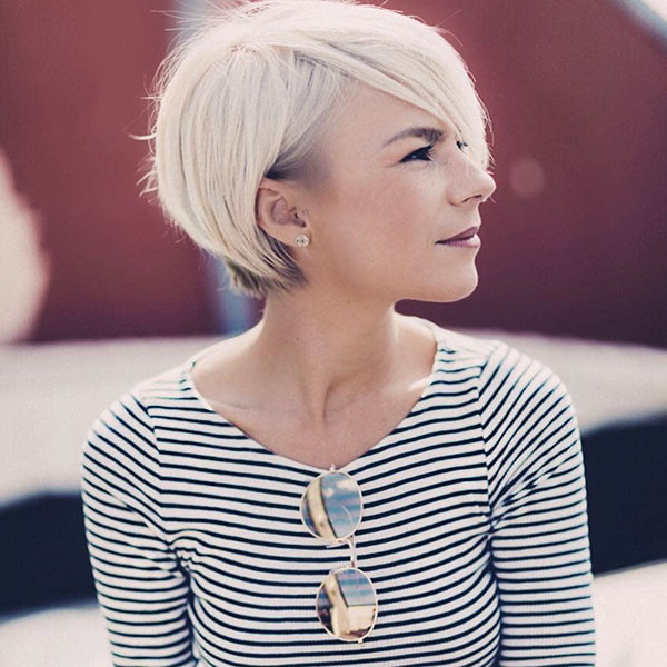 Straight-Pixie-Cut Short Straight Hairstyles 2019