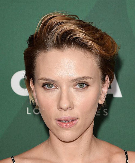 Stylish-Hair Scarlett Johansson Short Hairstyles