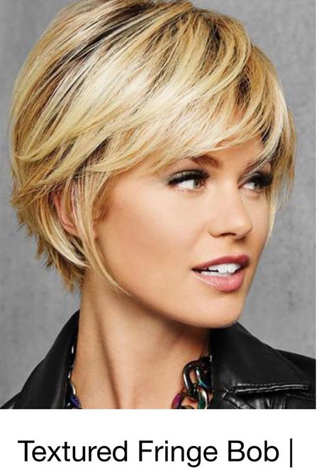Textured-Fringe Best Pixie Haircuts for Over 50 2018 – 2019