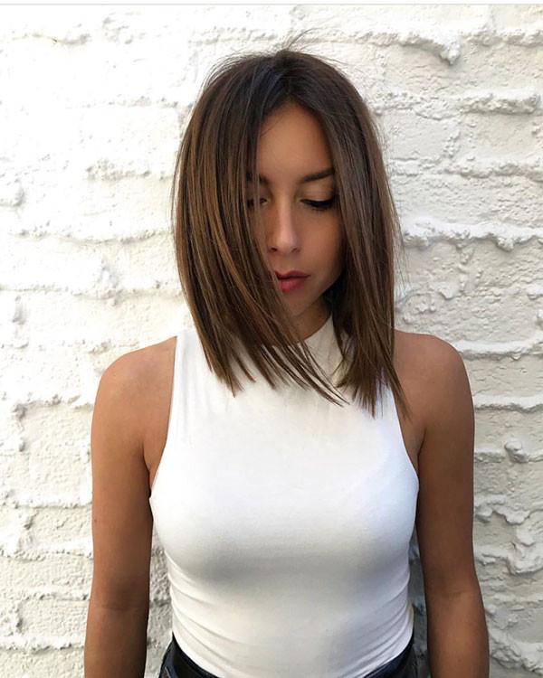 Trendy-Short-Straight-Hairstyle Short Straight Hairstyles 2019