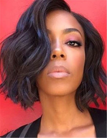 Wavay-Bob-Hairstyle Best Short Hairstyles for Black Women 2018 – 2019