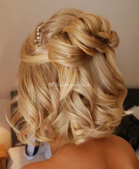 Wavy-Wedding-Hairstyle Wedding Hairstyles for Short Hair