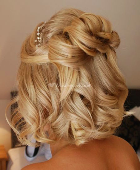Wavy-Wedding-Hairstyle Wedding Hairstyles for Short Hair