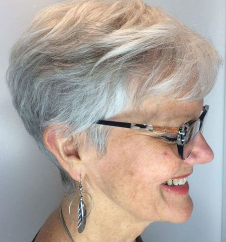 White-Pixie-Hair Best Pixie Haircuts for Over 50 2018 – 2019