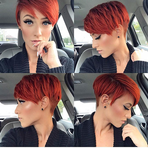 12-pixie-cut-with-side-swept-bangs Best New Short Hair with Side Swept Bangs