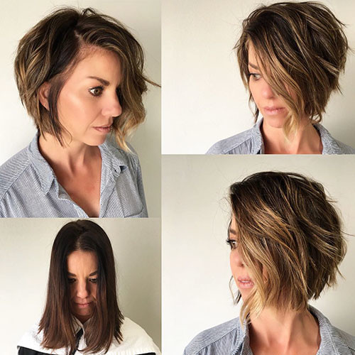 38-short-bob-haircuts-with-side-bangs Best New Short Hair with Side Swept Bangs