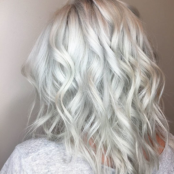 4-white-blonde Best Short Wavy Hair Ideas in 2019