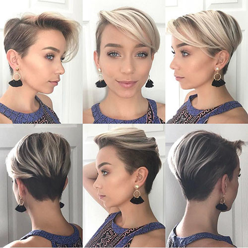 44-pixie-cut-with-side-swept-bangs Best New Short Hair with Side Swept Bangs
