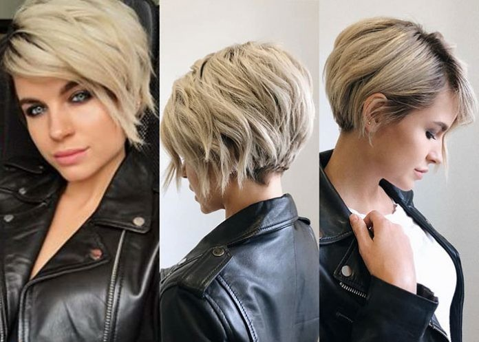 48-short-layered-hair-with-side-bangs Best New Short Hair with Side Swept Bangs