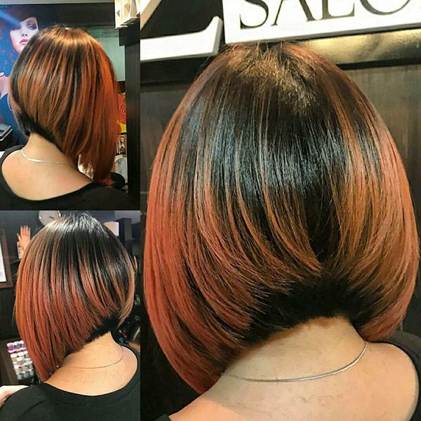 Angled-Long-Bob-Hair Popular Bob Hairstyles 2019
