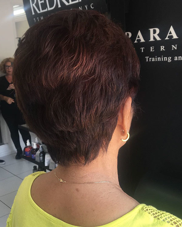 Back-View-Of-Pixie New Best Short Haircuts for Women
