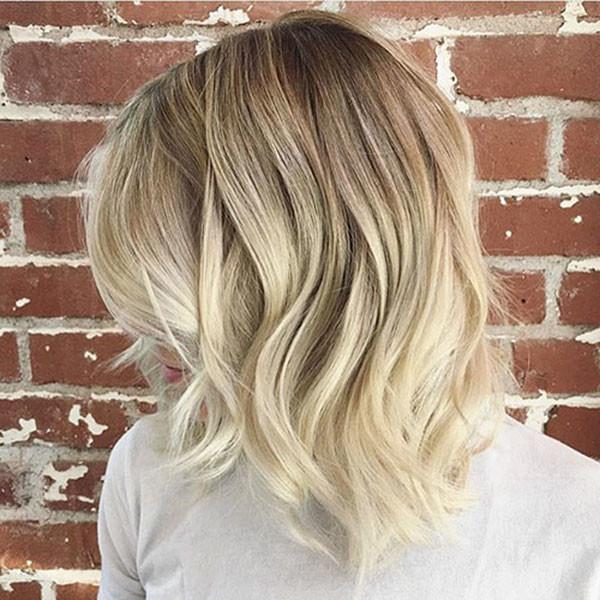 Balayage-Blonde-Bob New Short Blonde Hairstyles