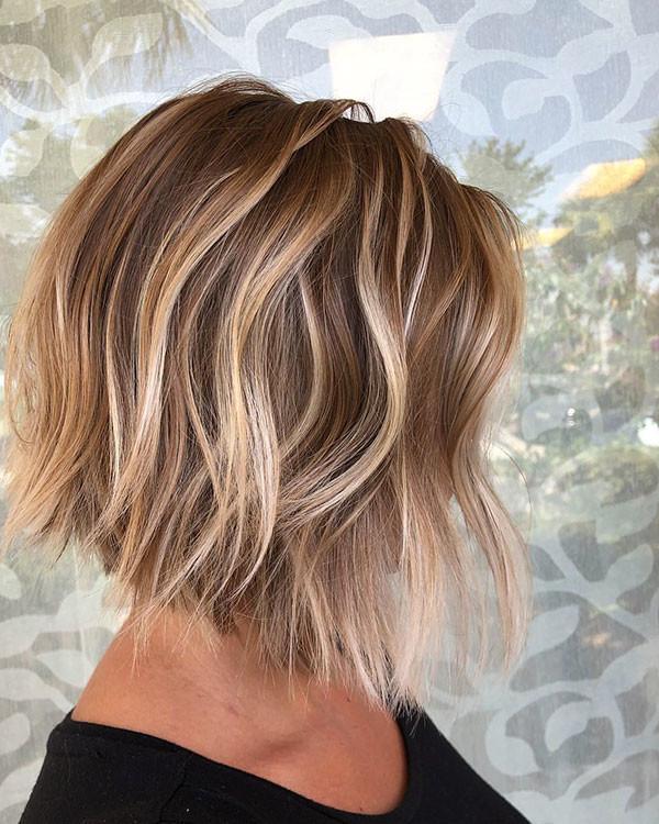 Blonde-Balayage-Bob-Hair-Style Popular Bob Hairstyles 2019