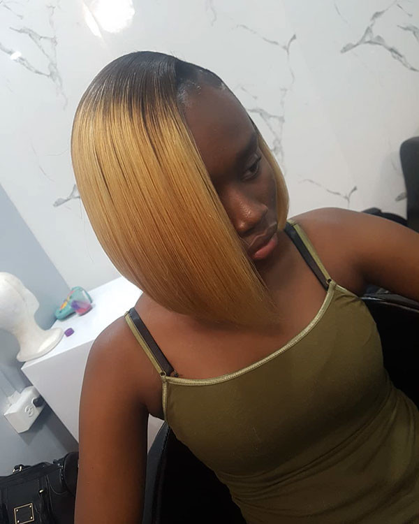 Blonde-Fine-Hair Best Bob Hairstyles for Black Women Pictures in 2019