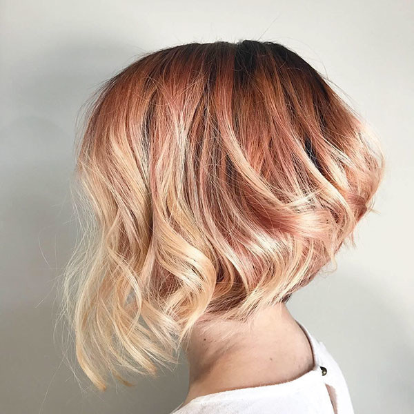 Blonde-Graduated-Bob-Hairstyle Popular Bob Hairstyles 2019