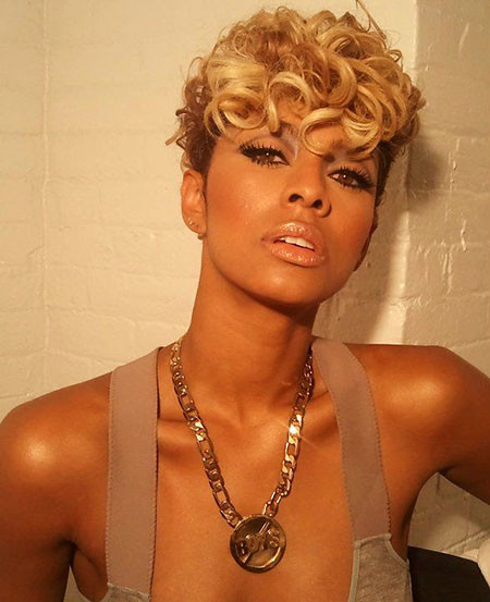 Blonde-Hairstyle Keri Hilson Short Hairstyles