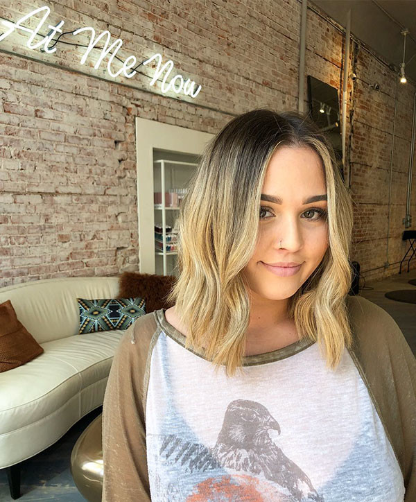 Blonde-Long-Bob-Hair New Cute Short Hairstyles