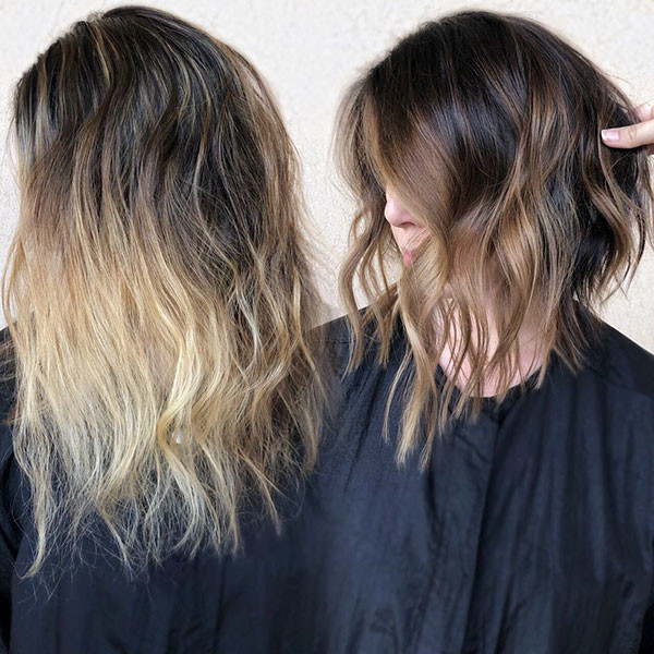 Blonde-Ombre Popular Short Hairstyles for Fine Hair