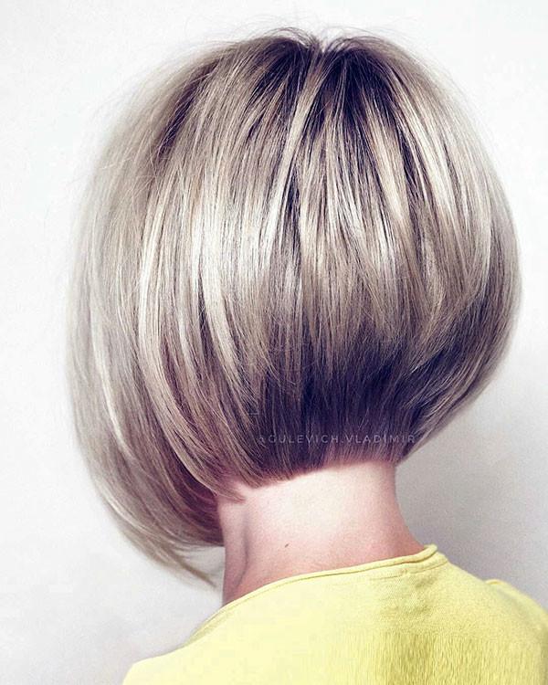 Blonde-Stacked-Bob-Hair Popular Bob Hairstyles 2019