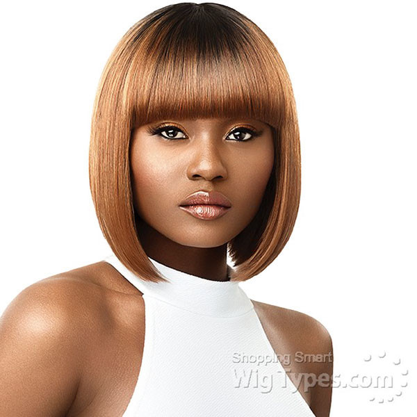 Bob-Cut-with-Full-Bangs Best Bob Hairstyles for Black Women Pictures in 2019