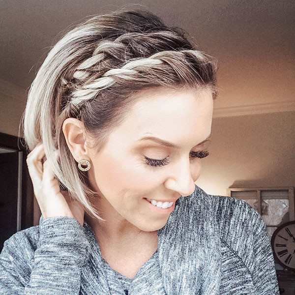 Braided-Bangs Amazing Braids for Short Hair
