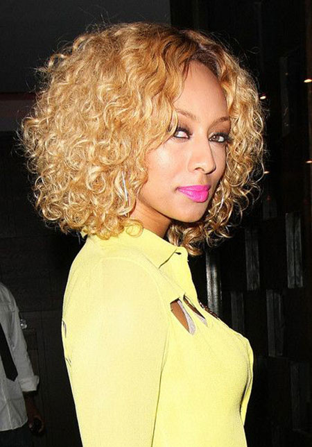Chin-Length-Curly-Hair Keri Hilson Short Hairstyles