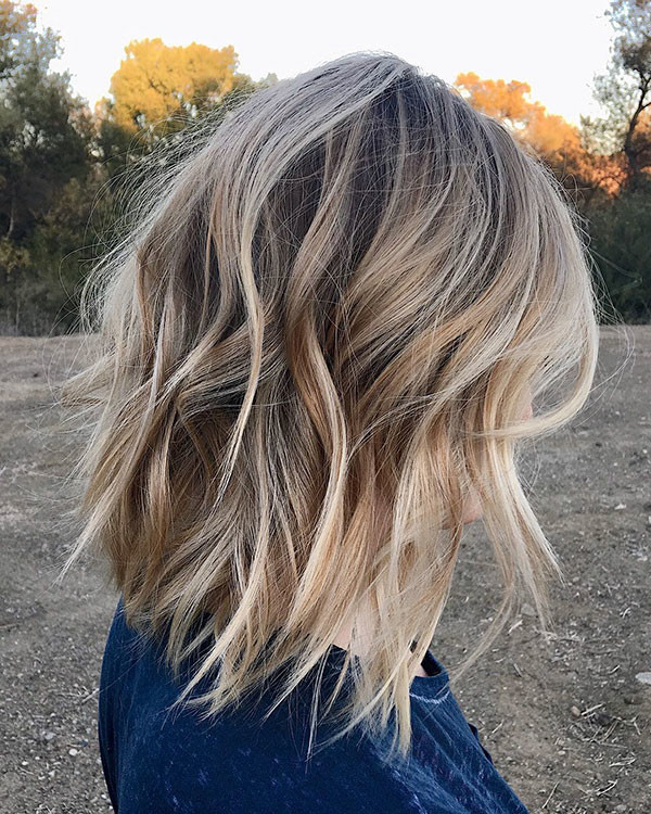 Choppy-Long-Bob Popular Short Hairstyles for Fine Hair