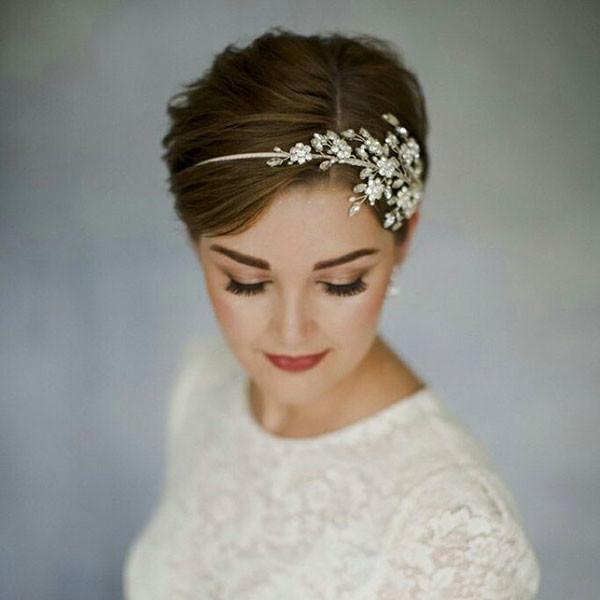 Classy-Short-Hair Wedding Hairstyles for Short Hair 2019