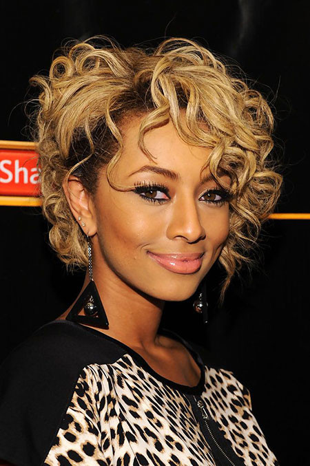 Curly-Bob-Hairstyle Keri Hilson Short Hairstyles