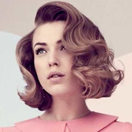 Cute-Perfect-Wavy-Hair Vintage Hairstyles Short Hair