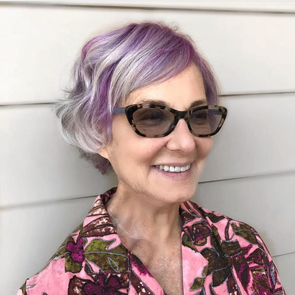 Cute-Side-Parted-Short-Bob Best Short Hairstyles for Older Women in 2019