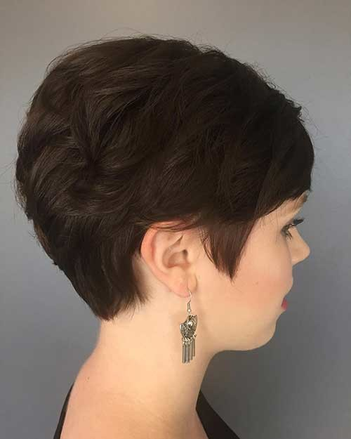 Dark-Pixie-1 Attractive Pixie Haircuts for Beautiful Women