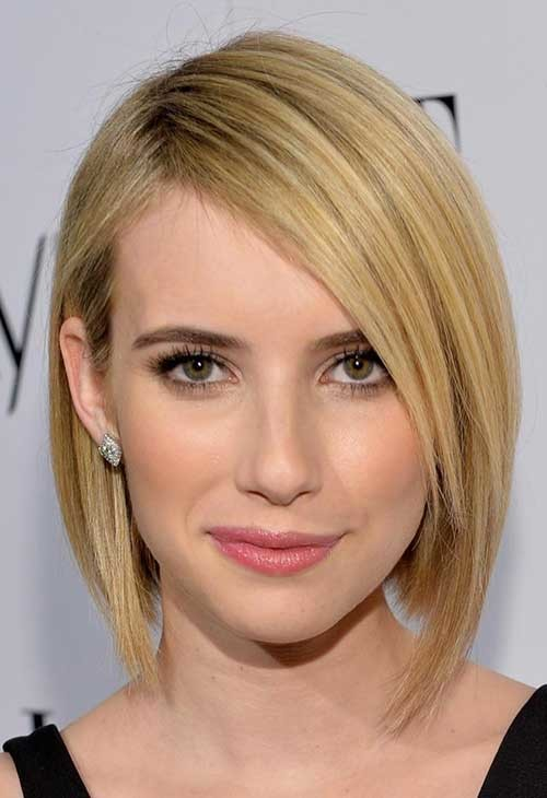 Emma-Roberts-Hairstyle-for-Fine-Bob-Hair Short Straight Hairstyles for Fine Hair