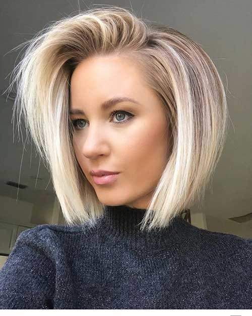Fine-Bob-Hair Best Short Fine Hairstyles Women 2019