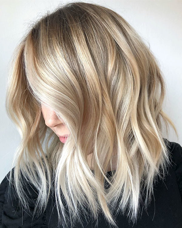 Fine-Layered-Lob Popular Short Hairstyles for Fine Hair
