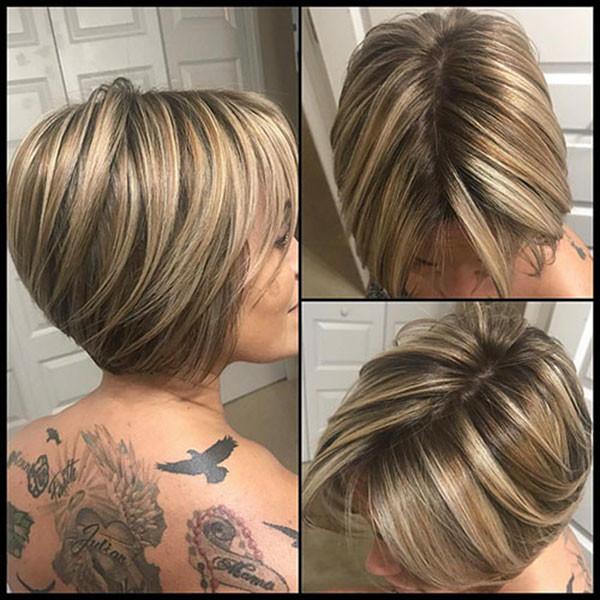 Graduated-Short-Bob-Haircut New Short Blonde Hairstyles