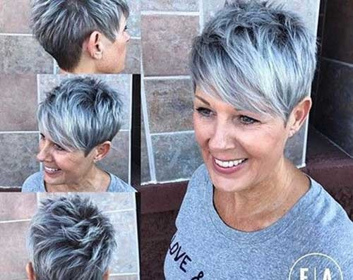 Grey-Short-Hair-1 Chic Short Haircuts for Women Over 50