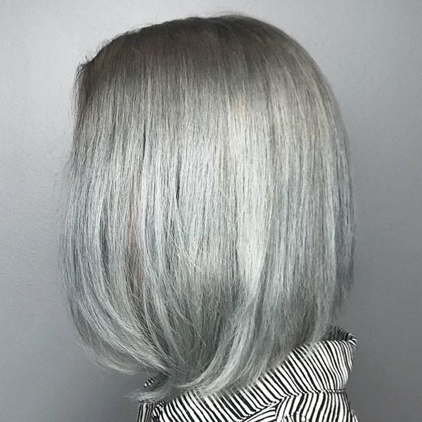 Grey-Short-Hair New Best Short Haircuts for Women