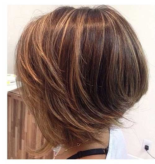 Highlighted-Graduated-Bob Amazing Graduated Bob Haircuts for Modern Ladies