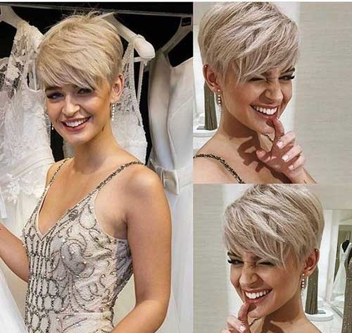 Ice-Blond-Pixie Stylish Pixie Haircuts Every Women Should See