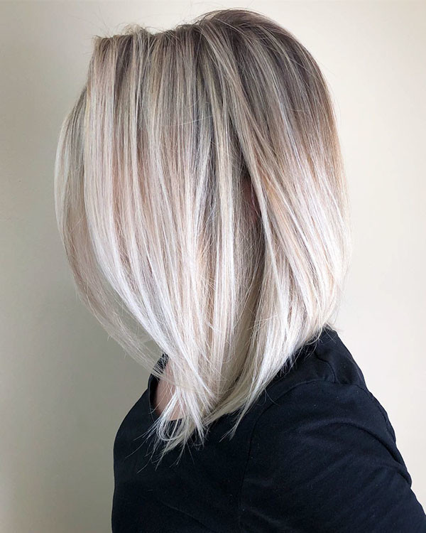Ice-Blonde-Fine-Hair Popular Short Hairstyles for Fine Hair