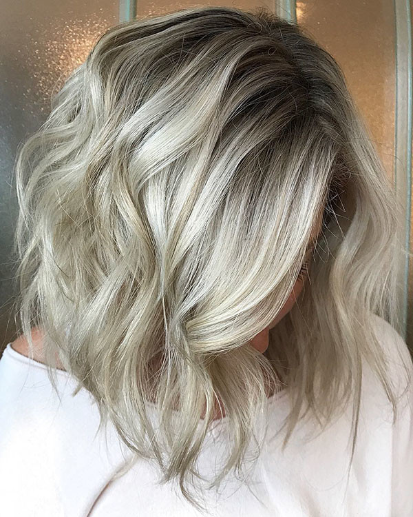Ice-Blonde-Hair Best Short Wavy Hair Ideas in 2019