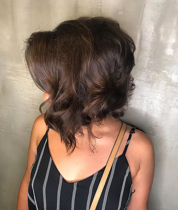 Inverted-Curly-Hair New Best Short Haircuts for Women