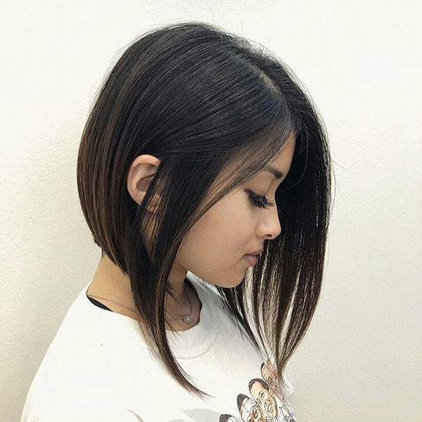 Inverted-Lob Beautiful Short Hair for Girls
