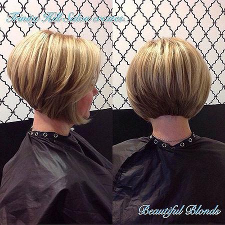 Layered-Blonde-Bob Short Bob Haircuts for Women