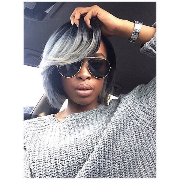 Layered-Side-Parted-Short-Bob Best Bob Hairstyles for Black Women Pictures in 2019