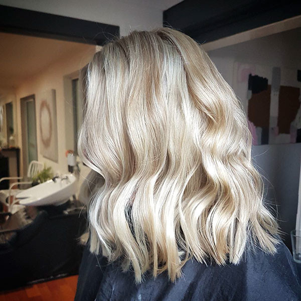 Longer-Soft-Wavy-Bob-Cut New Short Blonde Hairstyles