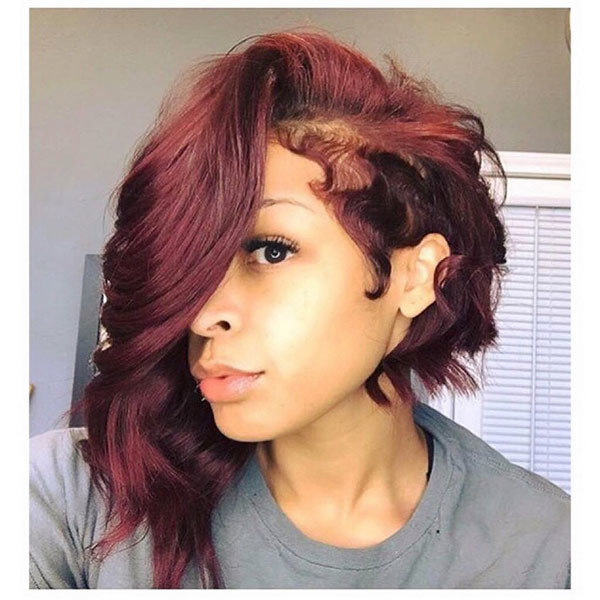 Messy-Asymmetrical-Bob Best Bob Hairstyles for Black Women Pictures in 2019