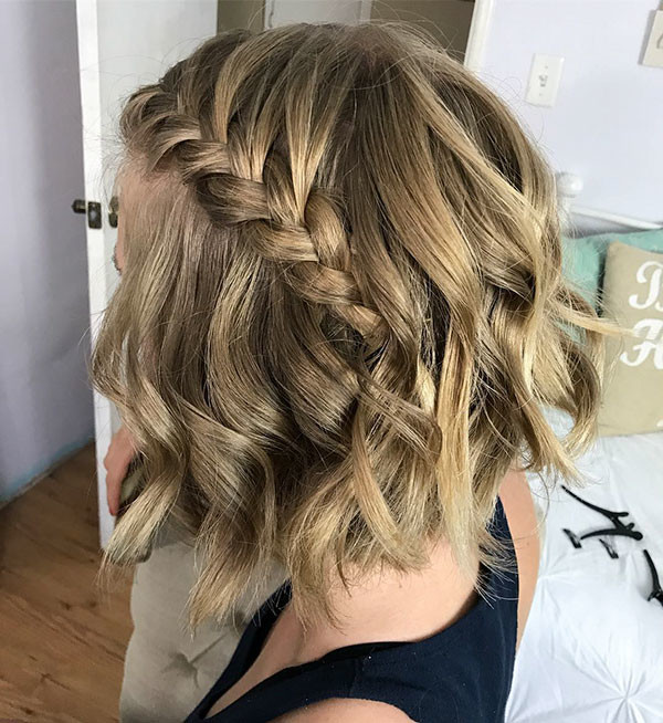 Messy-Wavy Amazing Braids for Short Hair